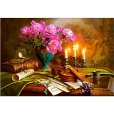 Пазл Castorland 1500 деталей Натюрморт - скрипка и цветы