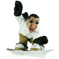 Дизайнерская статуэтка из мраморной крошки Сноубордист