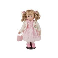 Фарфоровая кукла с мягконабивным туловищем, высота 31 см