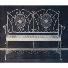 Кованая скамья из коллекции Белый ажур