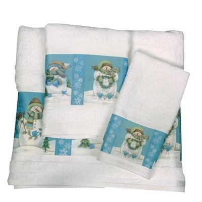 Полотенце для рук Blue Snowmen