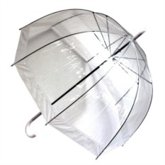Прозрачный зонт Белый купол