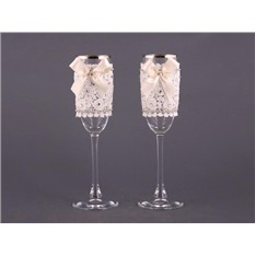 Набор свадебных бокалов для шампанского