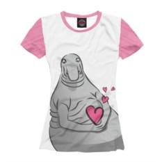 Женская футболка Влюбленный ждун