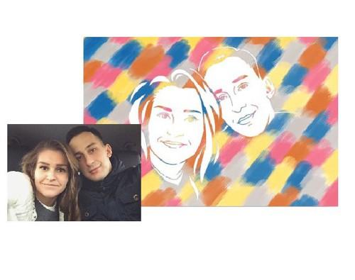 Картина для семьи по фотографии своими руками