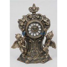 Часы из бронзы Два амура, цвет каштановый
