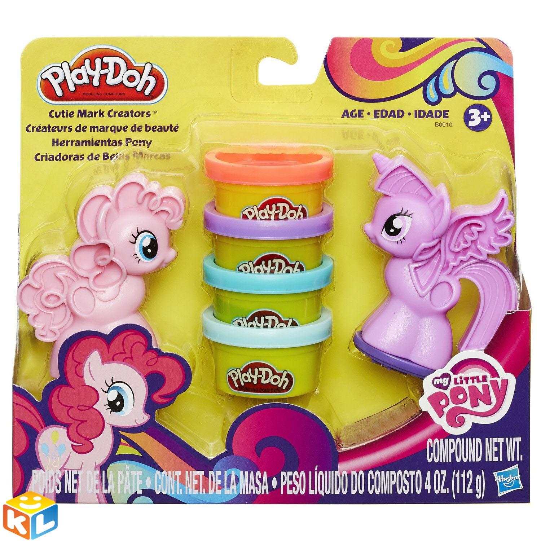 Набор пластилина Play doh Пони знаки отличия от Hasbro