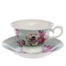 Набор чашка с блюдцем Мой пес