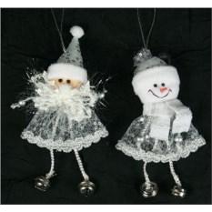 Новогодняя фигурка Дед мороз и снеговик