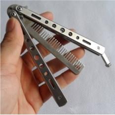Металлическая расчёска Нож-бабочка