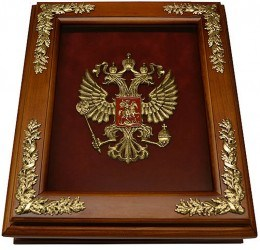 Деревянная ключница Эмблема Герб России