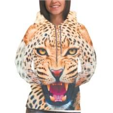 Женская толстовка 3D Леопард