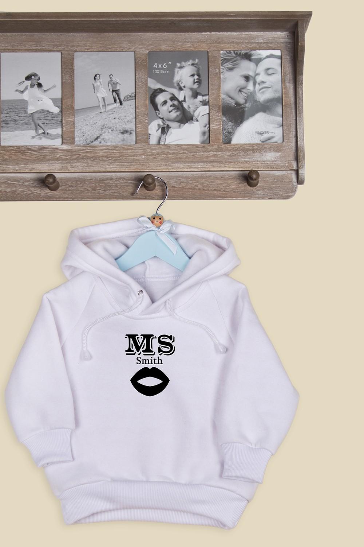 Детская толстовка с вашим текстом Mr & Mrs Smith