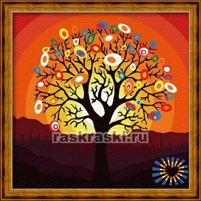 Раскраска по номерам Hobbart «Дерево надежд»