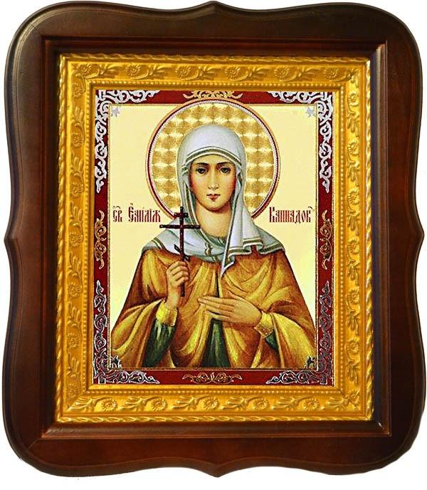 Емилия Кесарийская (Каппадокийская) Святая. Икона на холсте.