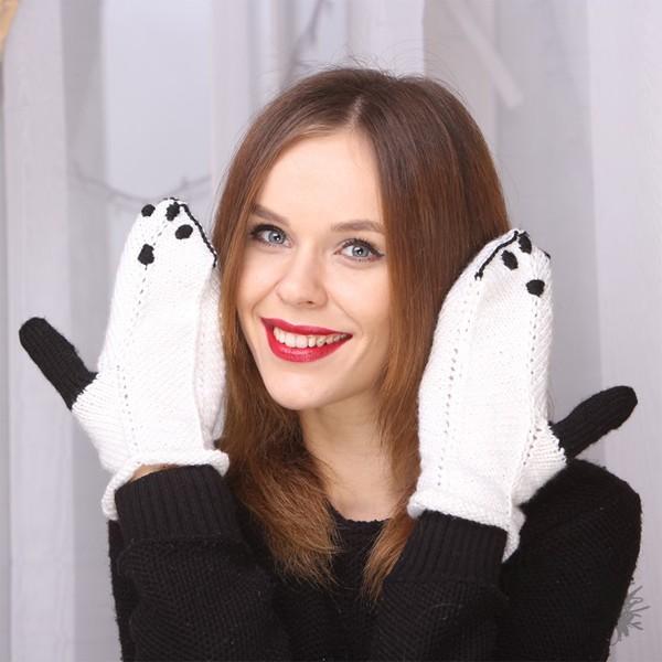 Варежки Панда
