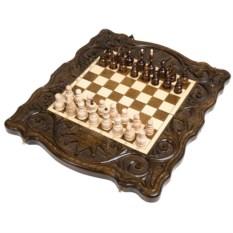 Малые шахматы и нарды ручной работы Корона