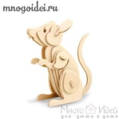Деревянный конструктор 3D Мышка