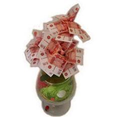 Денежное дерево «Бокал 5000 рублей»
