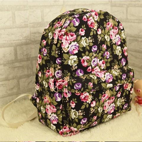 Винтажный рюкзак с цветочками Drive