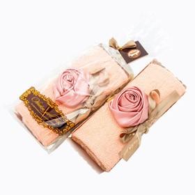 Столовое полотенце Рулет (роза в розовой пудре)
