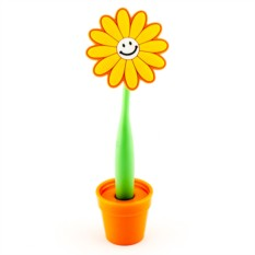 Ручка-цветок на подставке Маленький смайл