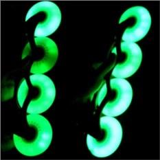 Светящиеся зеленые колеса для роликов