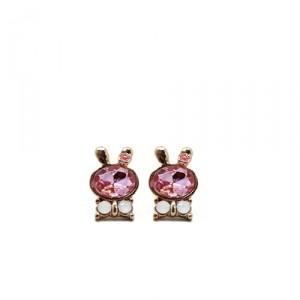 Серьги-гвоздики Pink rabbits