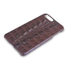 Коричневый чехол из кожи крокодила на Iphone 7