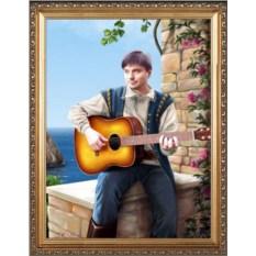 Оригинальный портрет музыканту