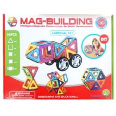 Магнитный конструктор Mag-building, 36 деталей