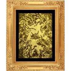 Гравюра из золота Зевс среди богов