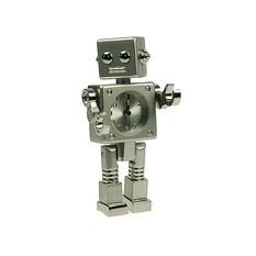 Настольные часы Робот серебристый