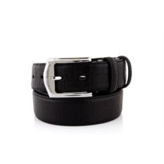 Черный мужской кожаный ремень тип 89-3
