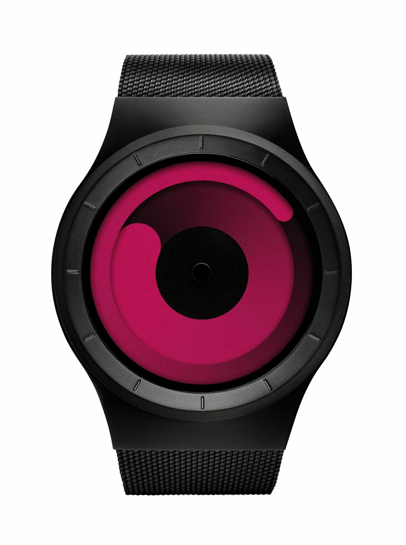 Наручные часы Ziiiro Mercury Black, Magenta