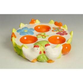 Подставка под 3 яйца круглая