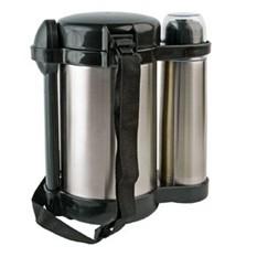Набор: футляр с 3 контейнерами, термос, ложка и вилка