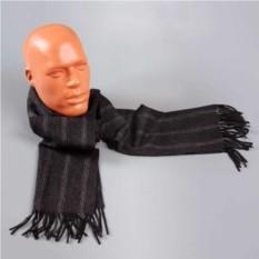 Темно-серый шарф с белыми полосками Halstech