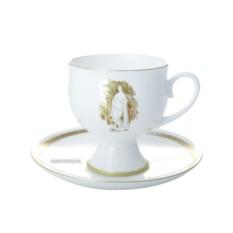 Фарфоровая чашка с кофейным блюдцем Музы Летнего Сада 2