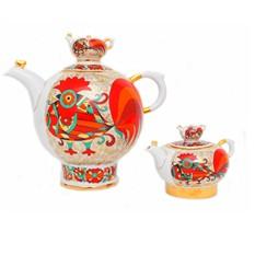 Комплект чайников Красный петух форма Семейный
