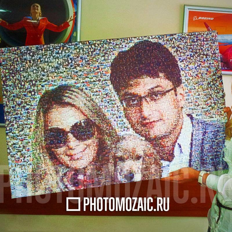 Фотомозаика в подарок жене на новоселье