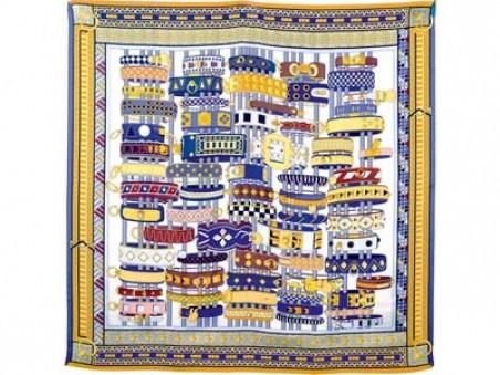 Разноцветный шёлковый платок Lady Hamilton