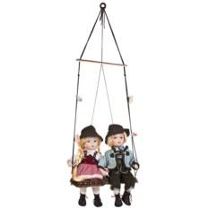 Набор фарфоровых кукол Баварские малыши на качелях