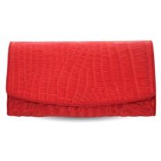 Красный кошелек из кожи крокодила