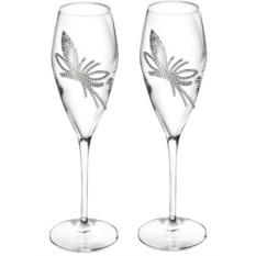 Набор из 2 бокалов King flower с кристаллами Swarovski