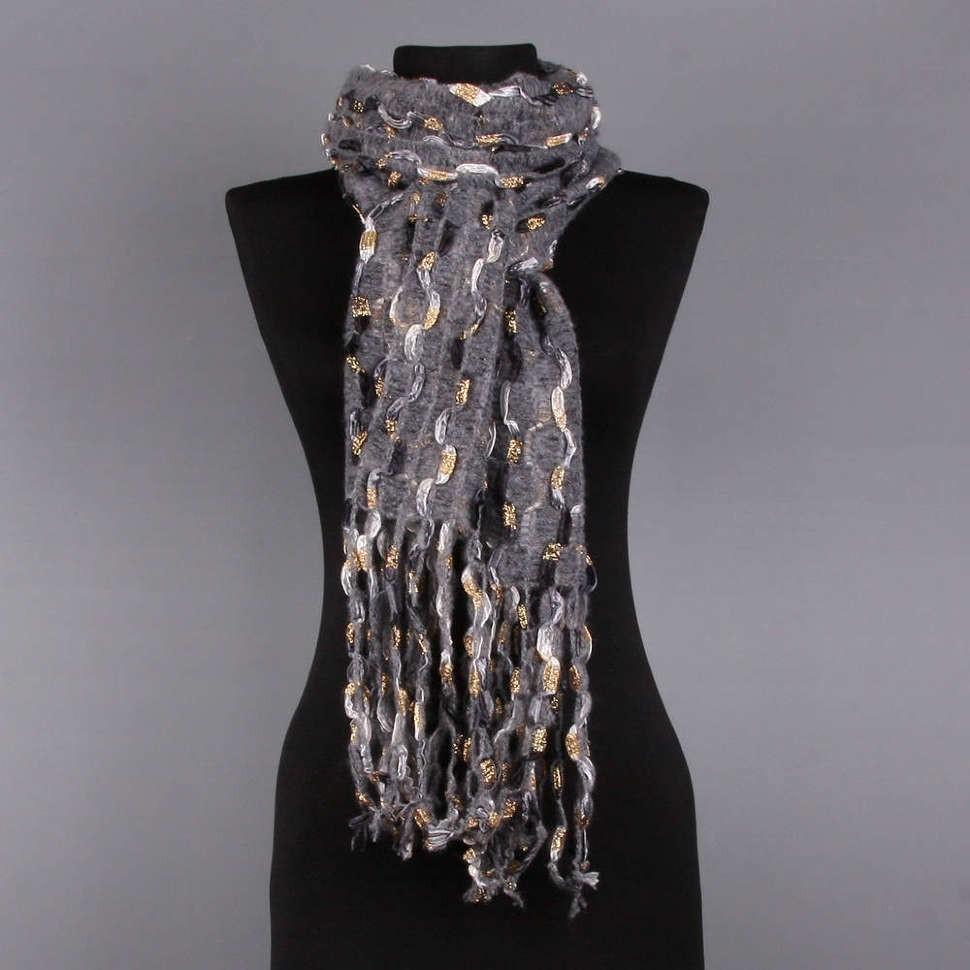 Теплый женский шарф