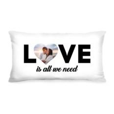 Подушка с вашим фото Love is all we need