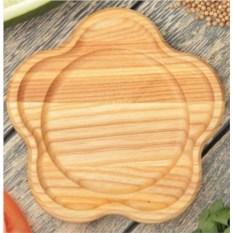 Деревянная тарелка Звездочка