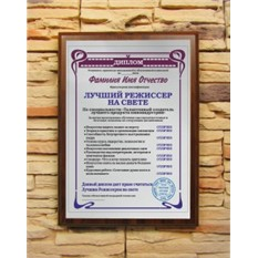 Подарочный диплом Лучший режиссер на свете