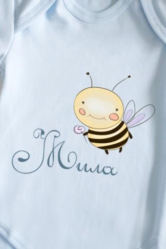 Боди для малыша с текстом Пчелка, размер 86
